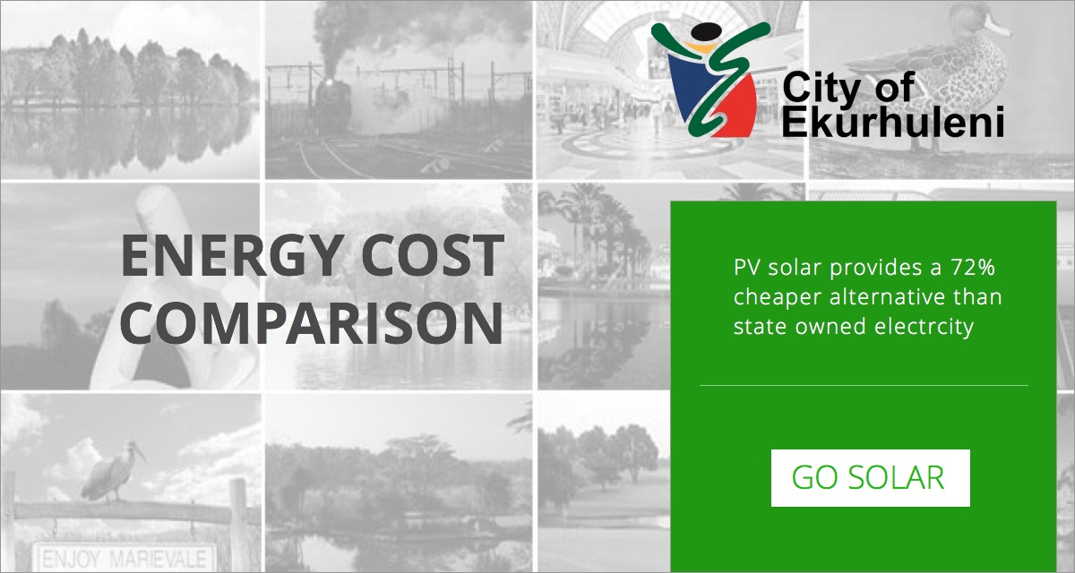 PV Solar versus Ekurhuleni electricity