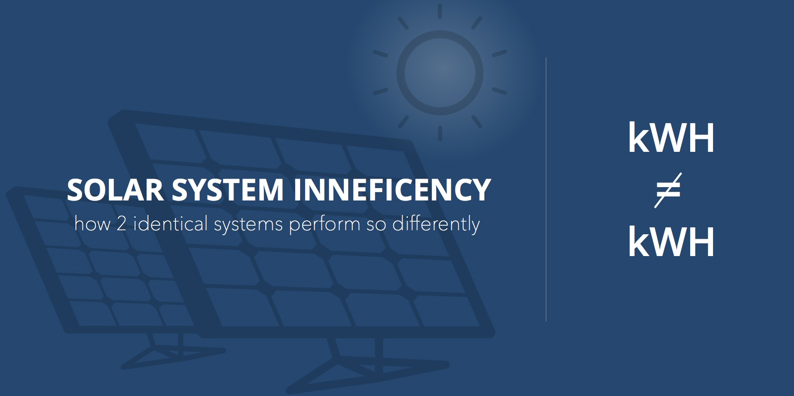 inefficient solar systems